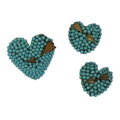 Louis Rousselet Pierced Hearts Parure