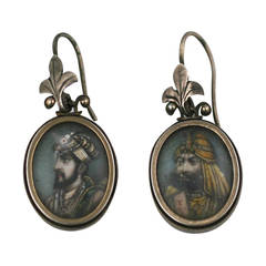 19th Century Indian Miniature Earrings