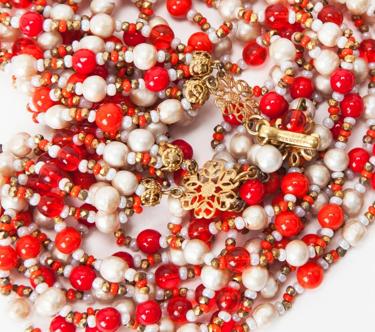 Miriam Haskell Multi-Strand Necklace 3