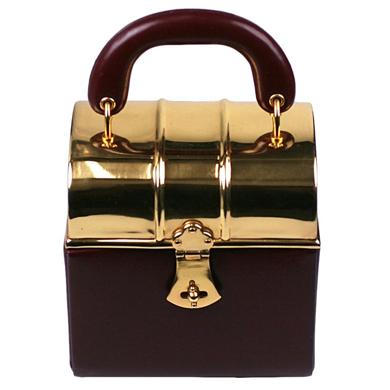 Sacha Miniature Burgundy Box Bag For