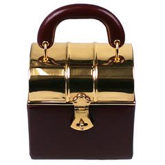 Sacha Miniature Burgundy Box Bag