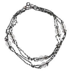 Edwardian Platinum and Diamond Chain