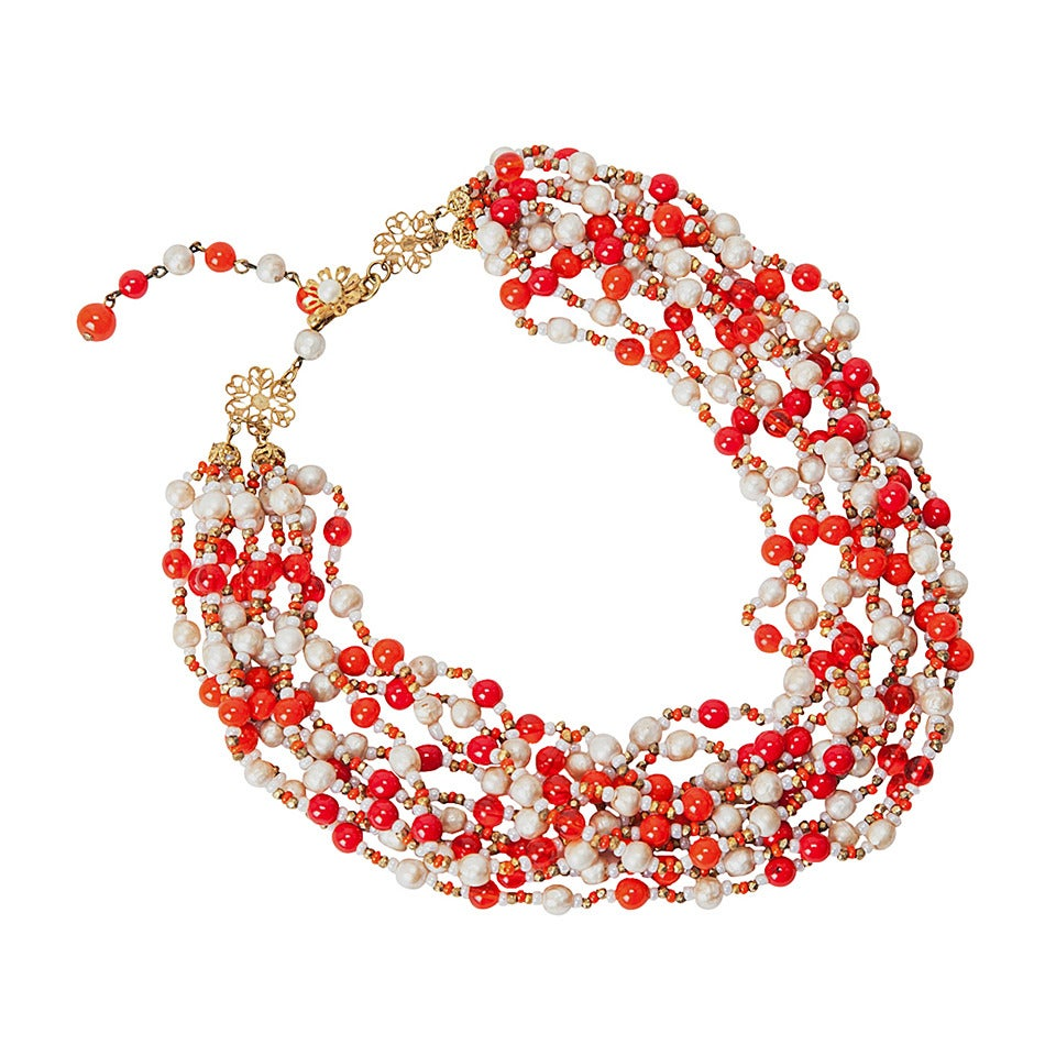 Miriam Haskell Multi-Strand Necklace 1