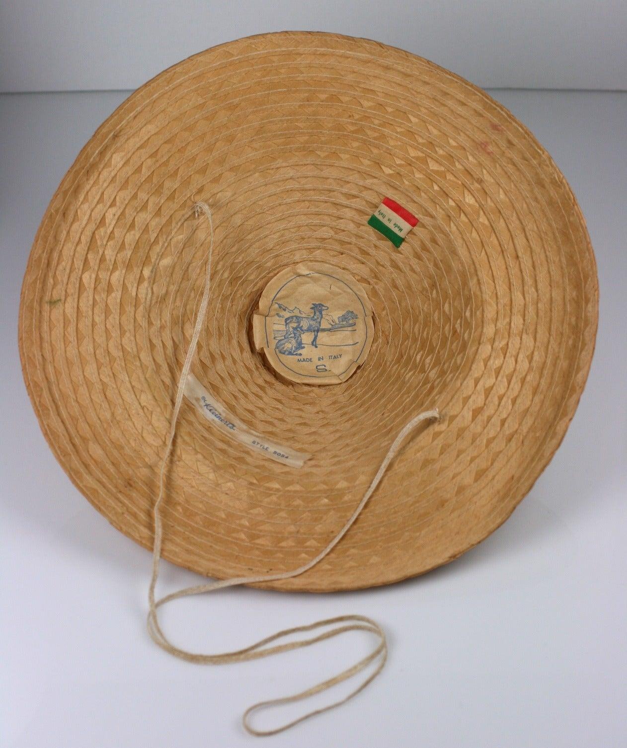Women's Italian Straw Fish Beach Hat For Sale