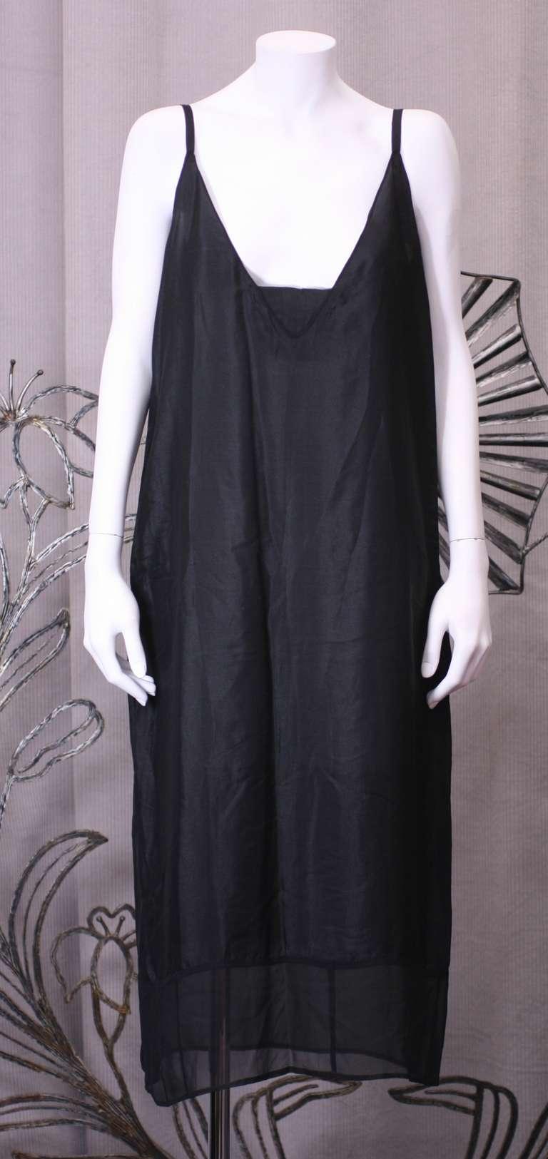 Amazing Art Deco Chiffon Gown with Hydrangea Lace 6