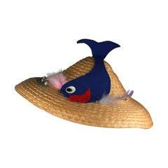 Italian Straw Fish Beach Hat