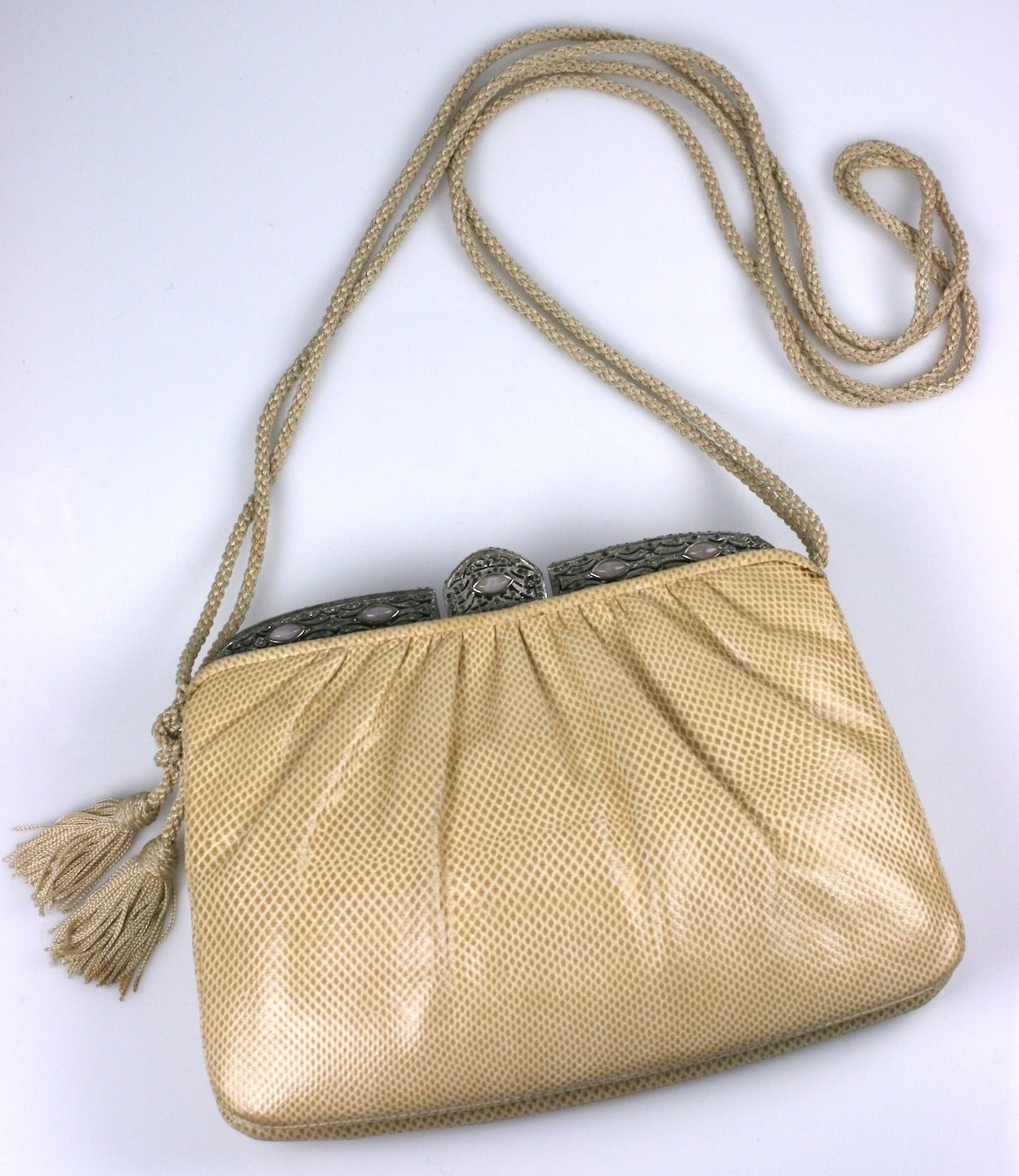 Judith Leiber Snakeskin and Rose Quartz Bag image 2