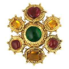 Chanel Byzantine Crest Brooch