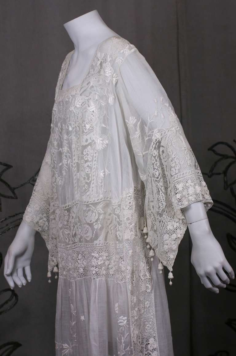 Embroidered Batiste And Filet 1920 S Dress At 1stdibs