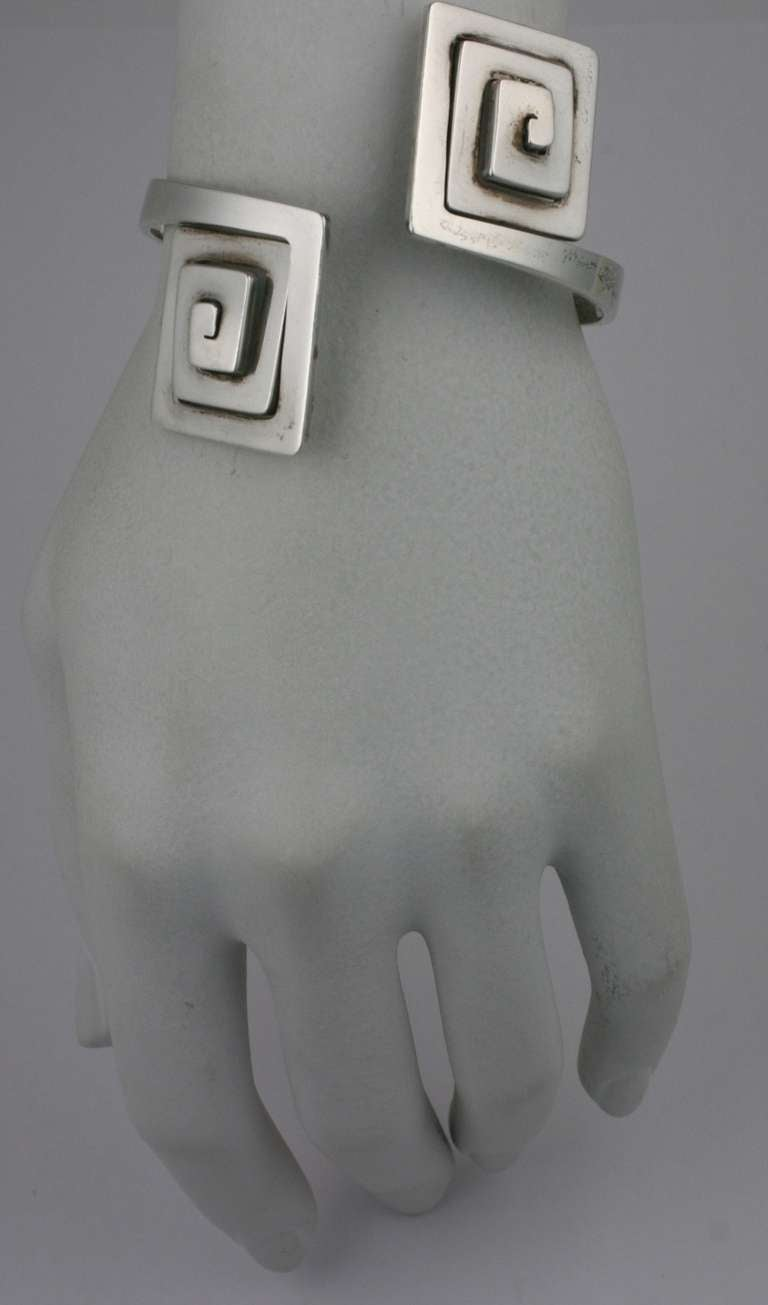 Puig Doria Greek Key Modernist Cuff 4