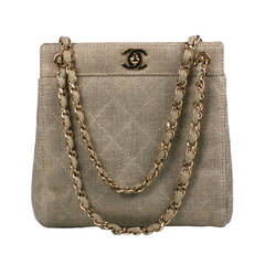 Chanel Lurex Linen Mini Tote
