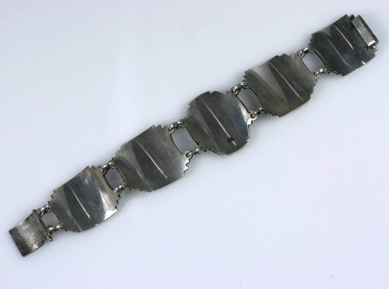 Unusual Art Deco Panel Bracelet For Sale 1