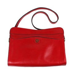 Pierre Cardin Red Leather Logo Bag