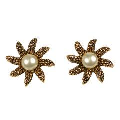 Chanel Wheat Star Earrings