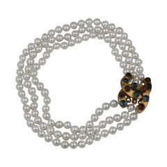 Chanel Poured Glass Graduated Pearls