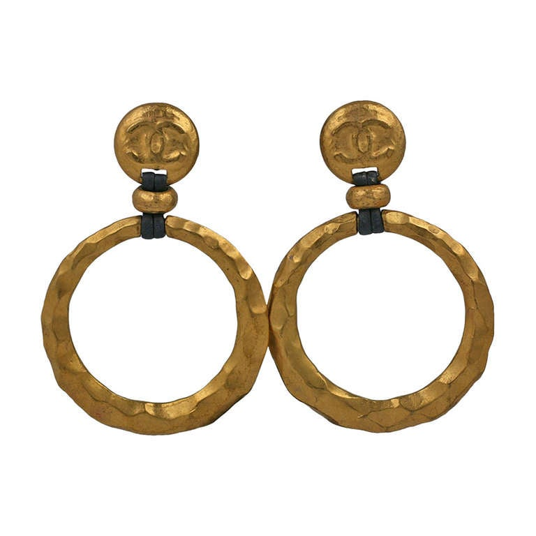 Chanel SuperSized Hoops For Sale