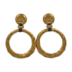 Chanel SuperSized Hoops