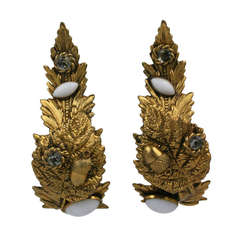 Dominique Aurientis Baroque Curled Leaf Earrings