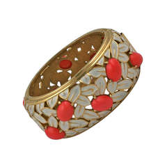 Jomaz Coral and Enamel Cuff