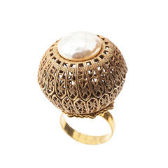 Miriam Haskell Dome Cocktail Ring
