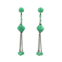 Peking Glass Deco Earrings