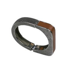 Castlecliff Modernist Leather Trim Bracelet