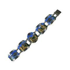 Unusual Art Deco Panel Bracelet
