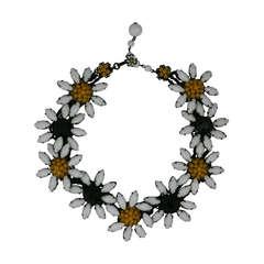 Miriam Haskell Marguerite Flower Necklace