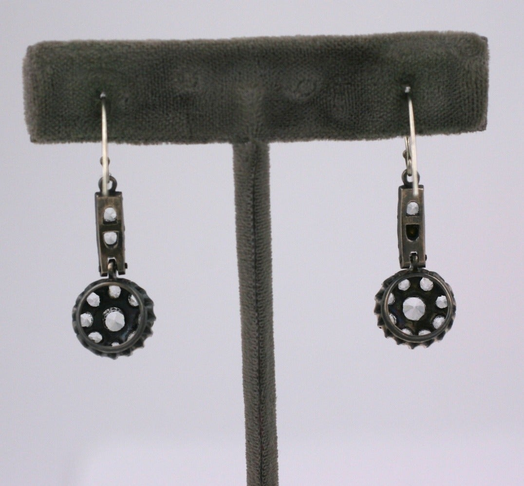 Victorian Antique Paste Earrings For Sale