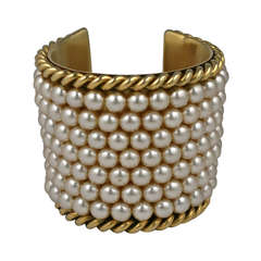 Iconic Chanel Pearl Cuff