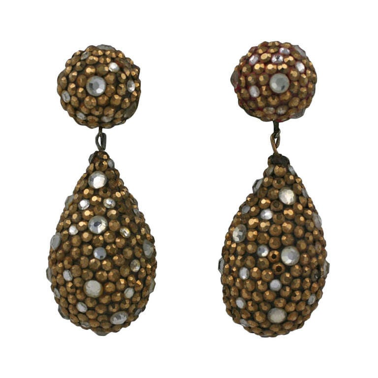 Arpad Copper Pave Earrings 1