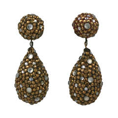 Arpad Copper Pave Earrings