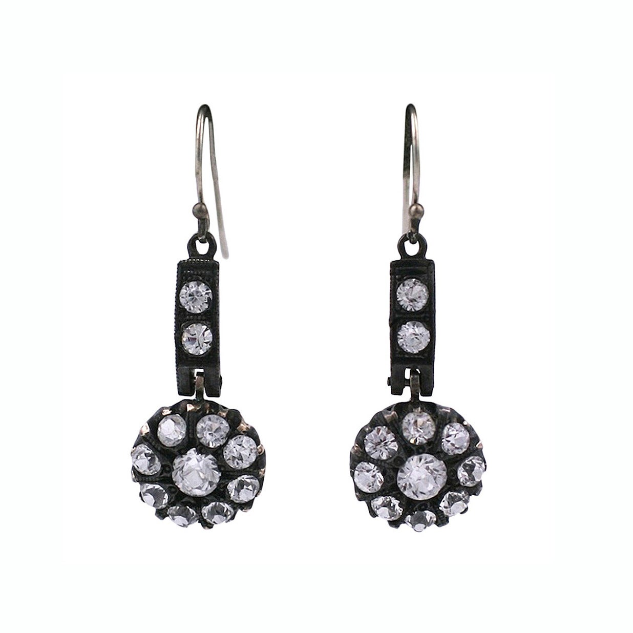 Antique Paste Earrings For Sale