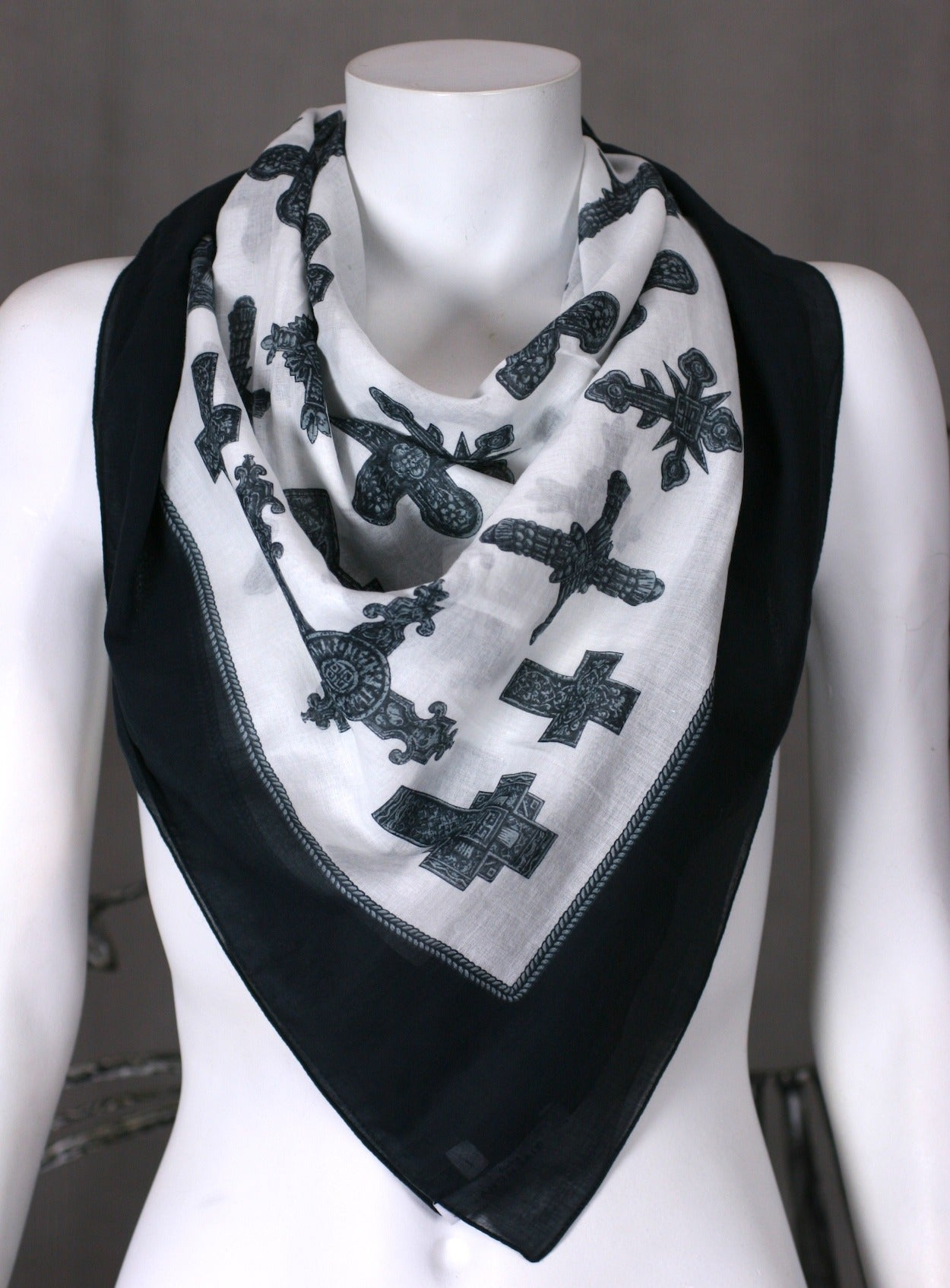 Givenchy Cotton Cross Scarf 5