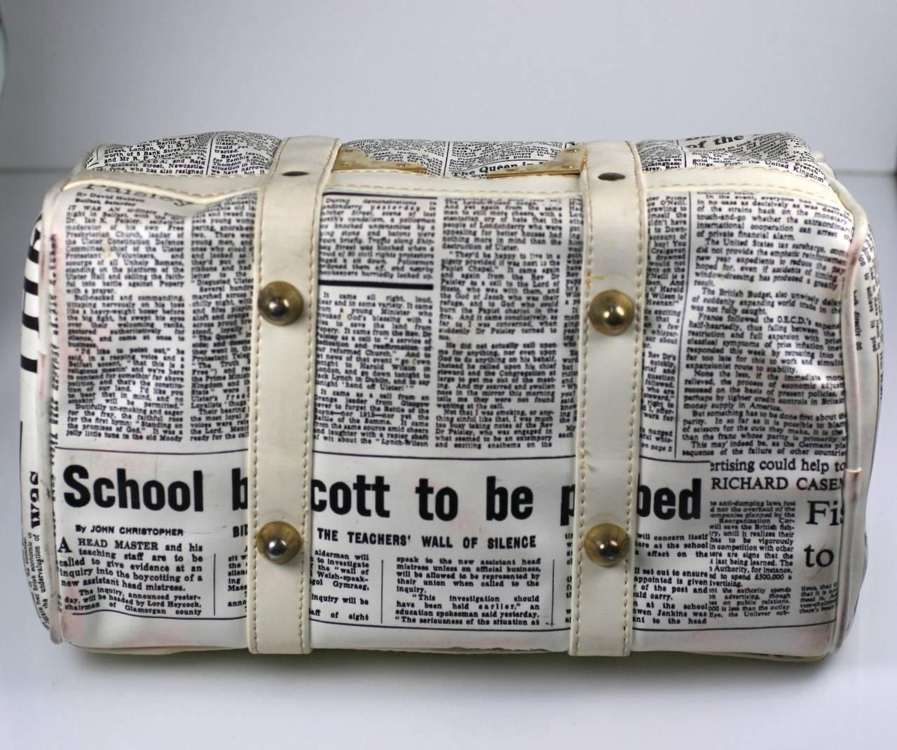 Mod English Newsprint Satchel 4