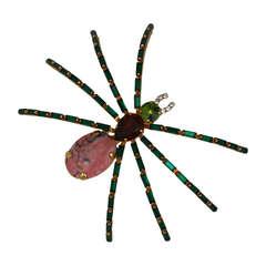 Oversized Spider Brooch