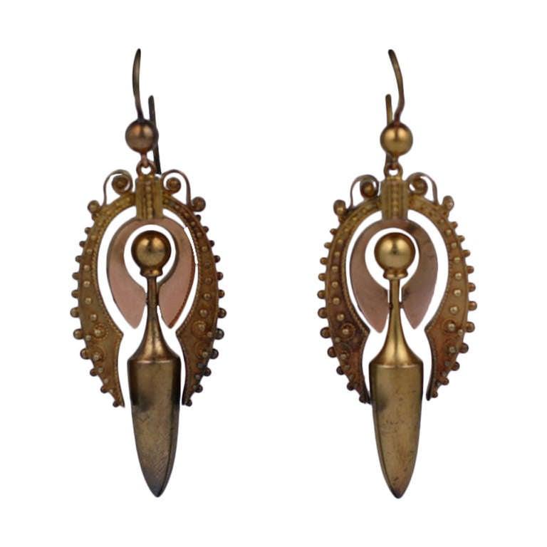 Victorian Urn Earrings For Sale