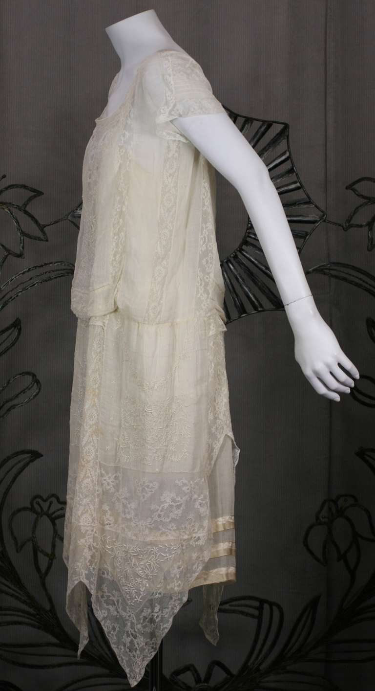 Boue Soeurs Cotton Voile Day Dress For Sale At 1stdibs