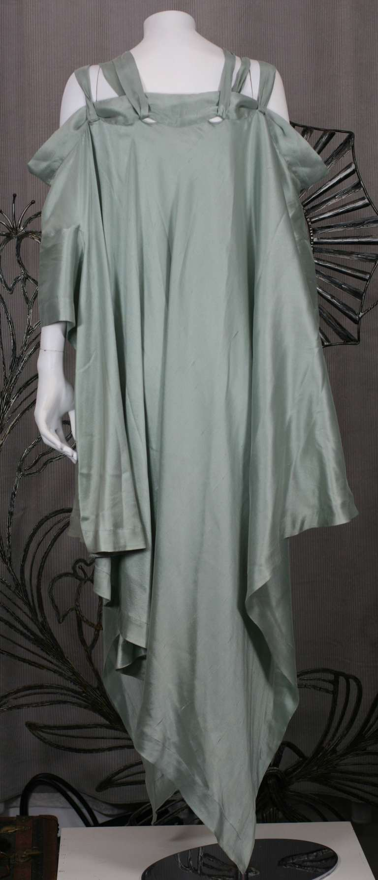 Romeo Gigli Celadon Silk Scarf Dress In Good Condition For Sale In Riverdale, NY