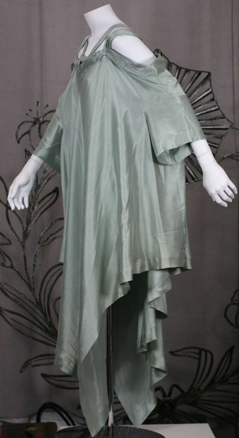 Gray Romeo Gigli Celadon Silk Scarf Dress For Sale
