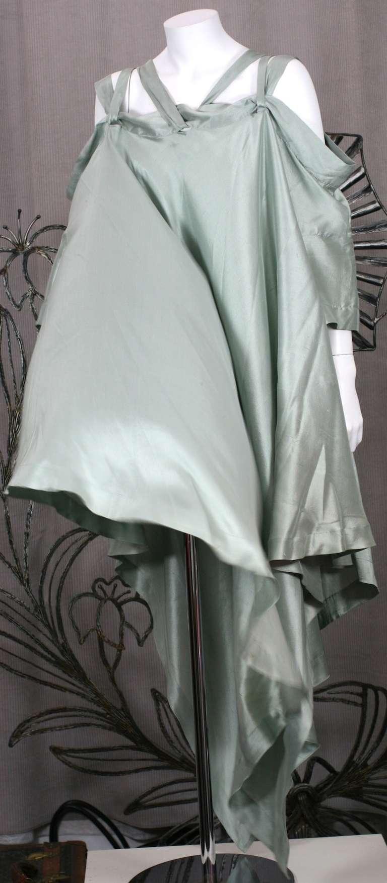 Women's Romeo Gigli Celadon Silk Scarf Dress For Sale
