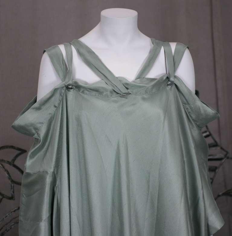 Romeo Gigli Celadon Silk Scarf Dress For Sale 1