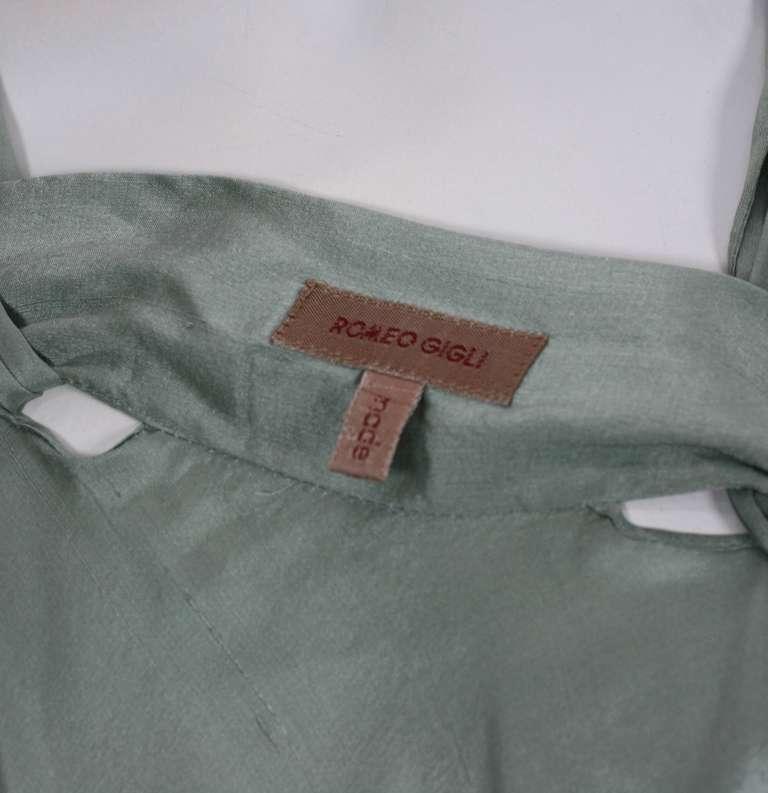 Romeo Gigli Celadon Silk Scarf Dress For Sale 2