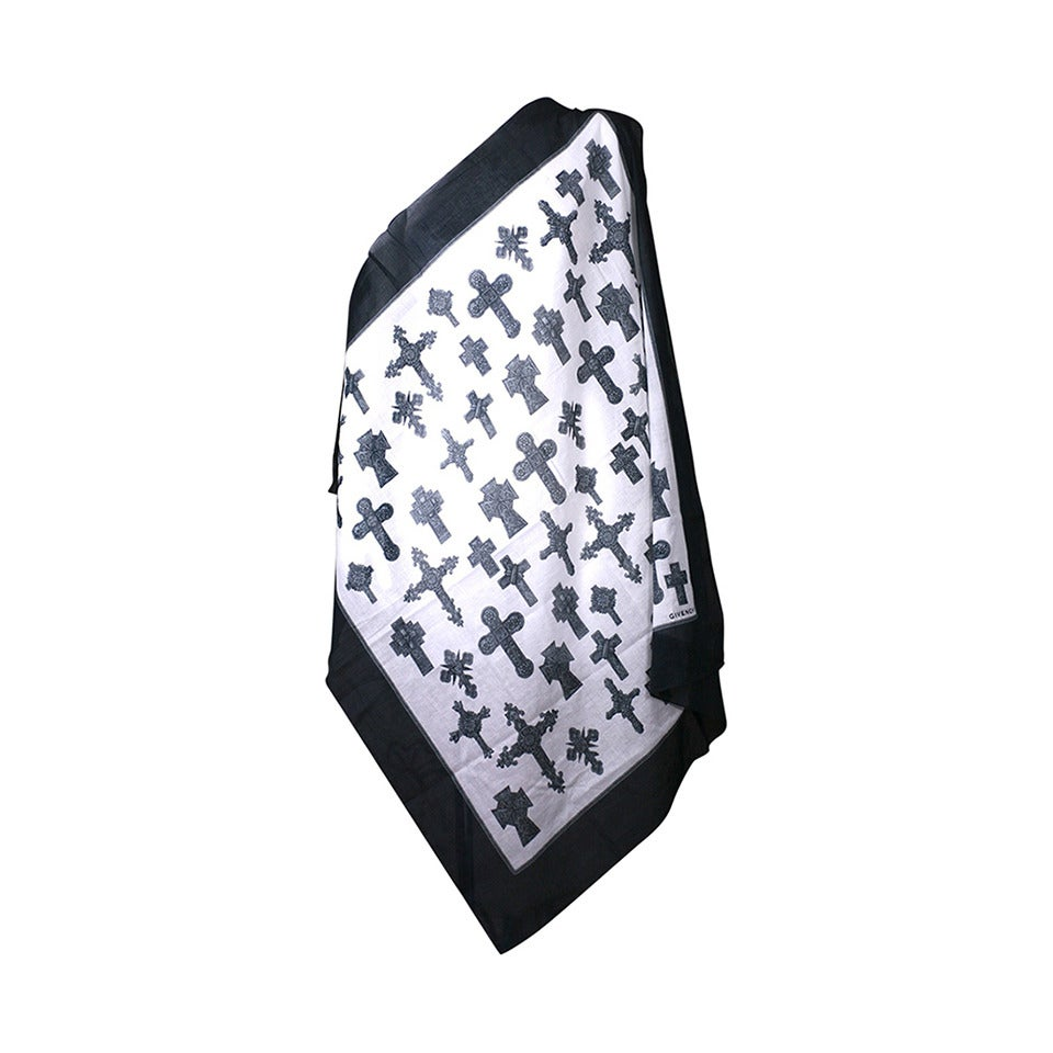 Givenchy Cotton Cross Scarf 1