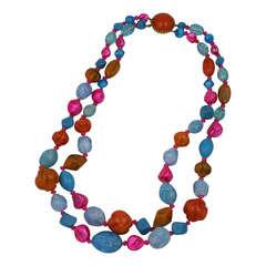 Hattie Carnegie Pearl and Bakelite Necklace
