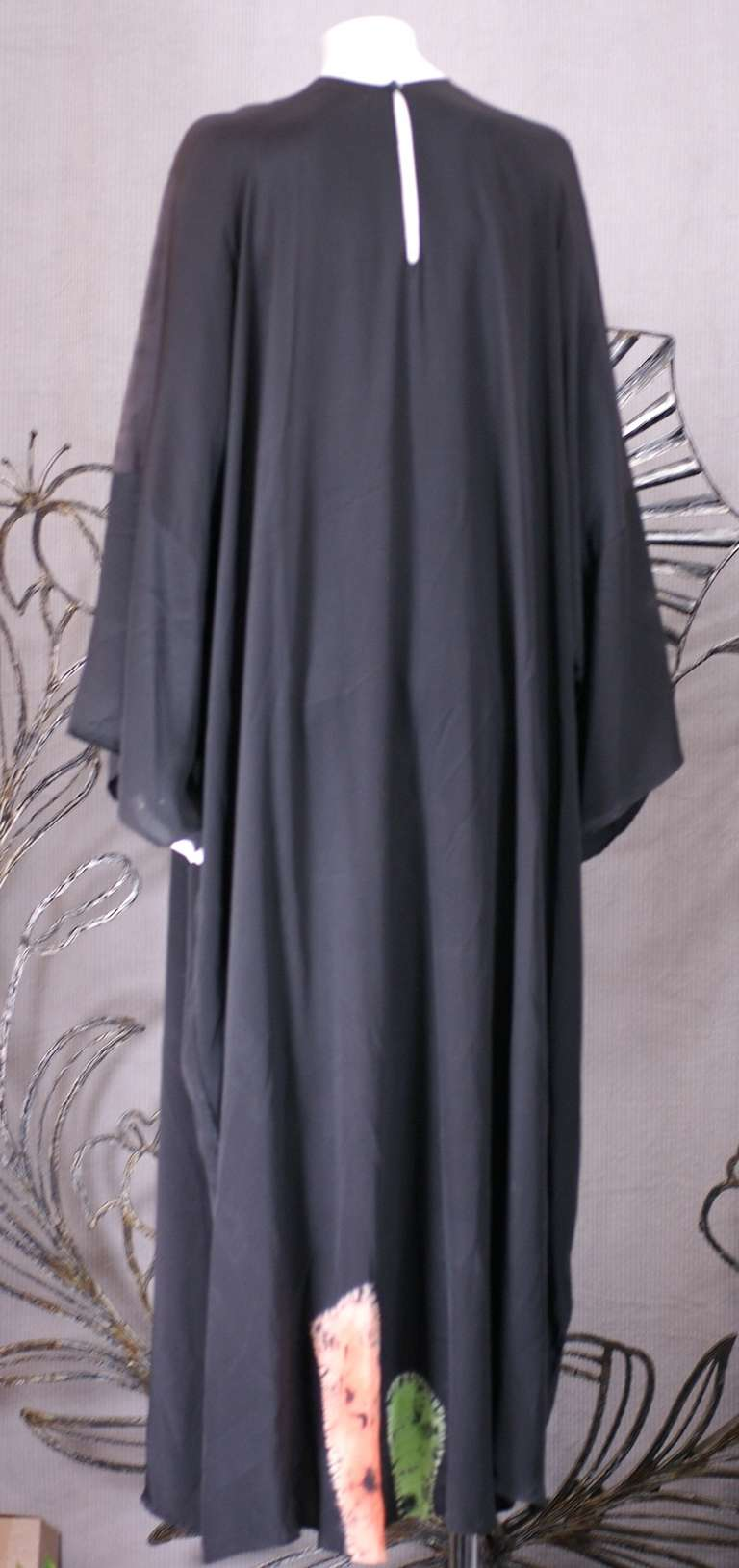 Women's Rare Halston Hand Painted Caftan For Sale