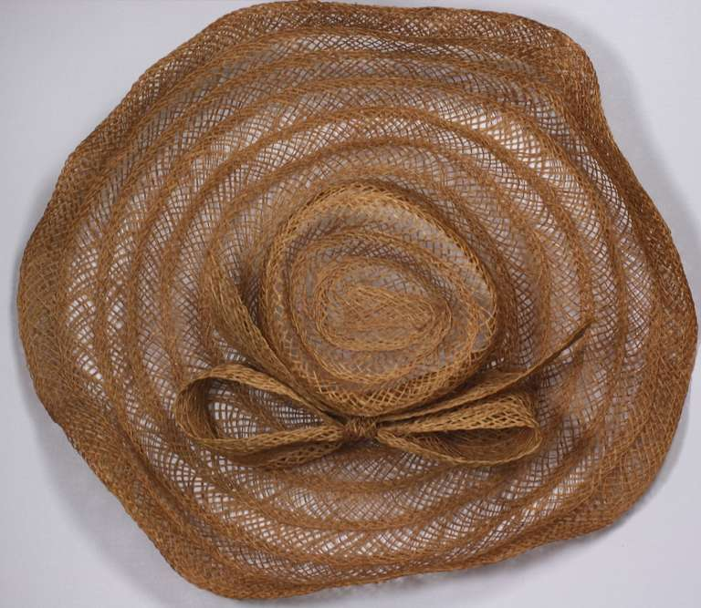 Massive Editorial Straw Sun Hat In Excellent Condition For Sale In Riverdale, NY