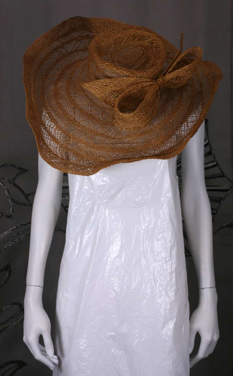 Massive Editorial Straw Sun Hat For Sale 2