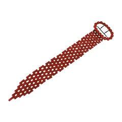 Victorian Coral Link Buckle Bracelet