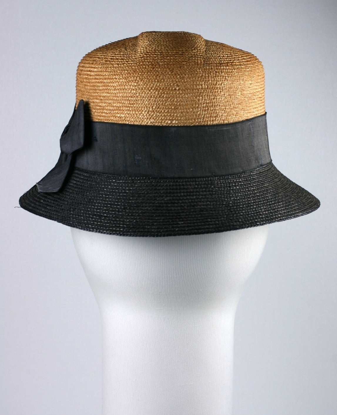 Early 2 Toned Straw Hat,